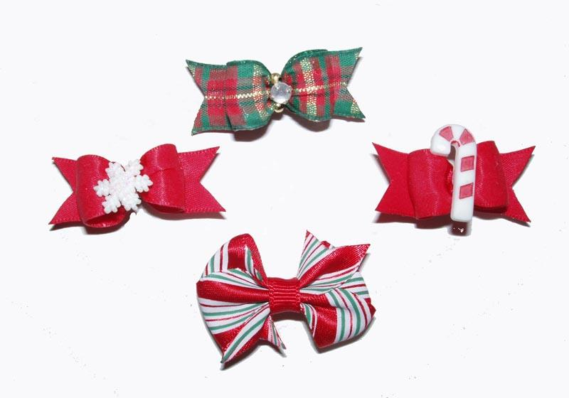 Christmas and Holiday Dog Bows