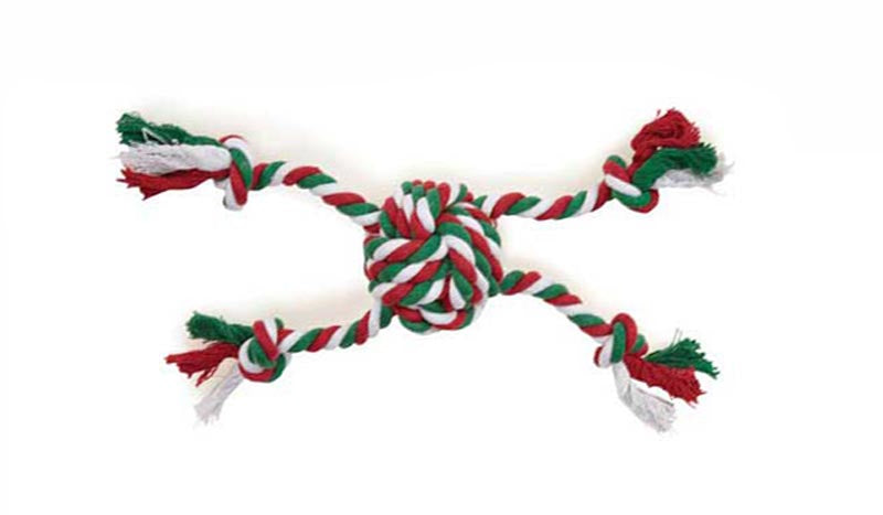 Dog Toy - 4 Leg Center Knot Rope Toy - A Pet's World