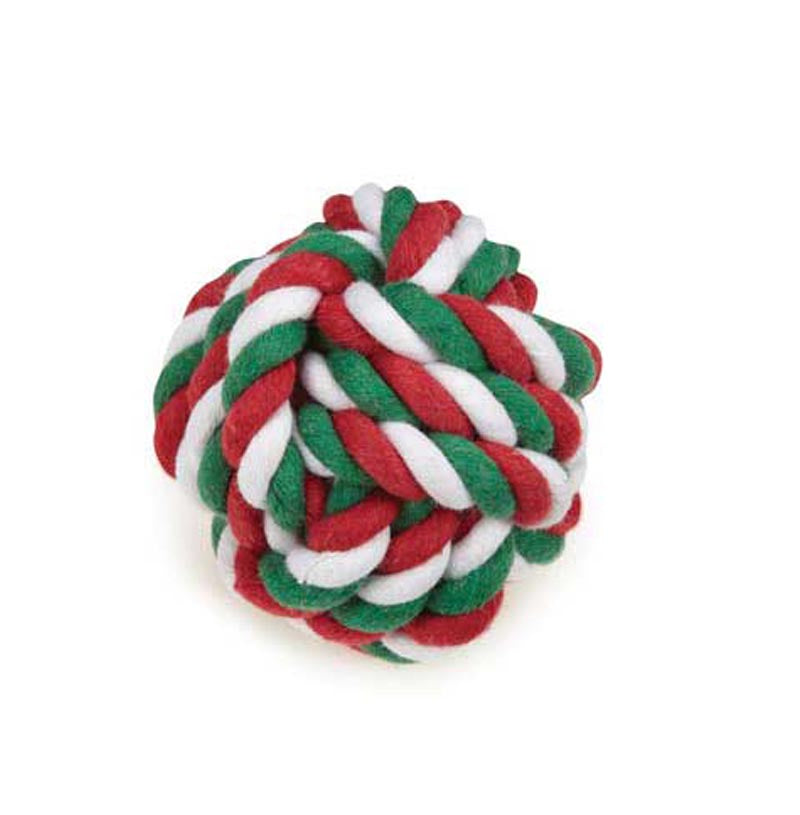 Dog Toy- Holiday Small Rope Ball - A Pet's World