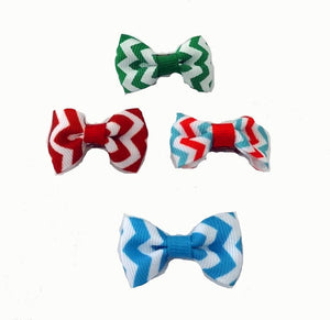 Dog Hair Bows -  Chevron Bow Ties - A Pet's World