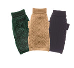 Load image into Gallery viewer, Dog Sweaters-Aran Wool Cable with Lining - A Pet's World
