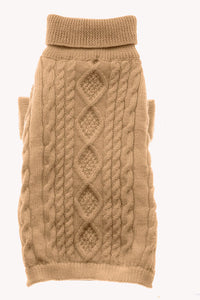 Dog Sweaters-Aran Wool Cable with Lining - A Pet's World
