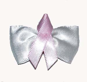 Dog Hair Bows- Breast Cancer Ribbon Bow - A Pet's World