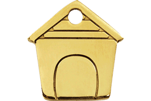 Brass Pet ID Tags in 3 Sizes - A Pet's World