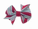 Dog Hair Bows-Candy Cane Fishtail - A Pet's World