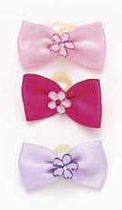 Dog Hair Bows- Crystal Flowers - A Pet's World