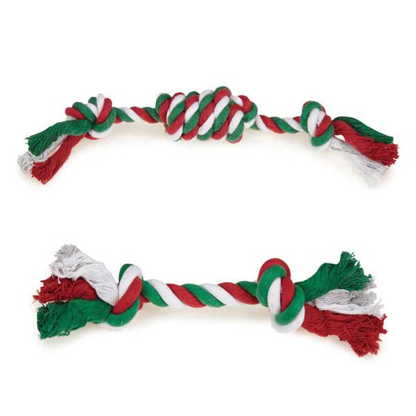 "Dog Toys - Set of 2 10"" Christmas Rope Toys - A Pet's World"