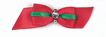 Load image into Gallery viewer, Dog Hair Bows-Christmas Stripe Rhinestone Starched Show Bow - A Pet's World