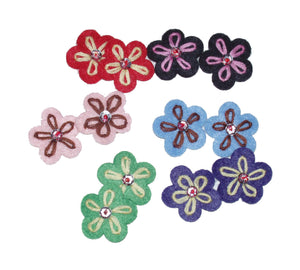 Dog Hair Flowers- Six (6) Felt Petal Flowers - A Pet's World