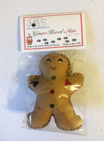 Load image into Gallery viewer, Cat Toy - Gingerbread Man with Catnip USA Made - A Pet's World