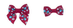 Dog Hair Bows-Mitten Printed Grosgrain - A Pet's World
