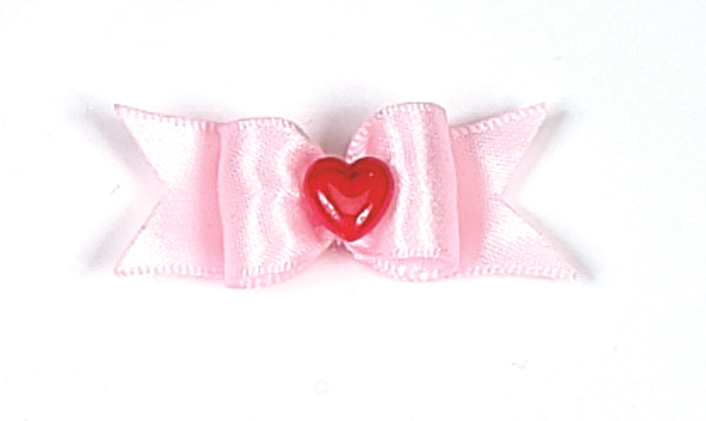 Dog Hair Bows-Red Heart Starched Show Bow - A Pet's World