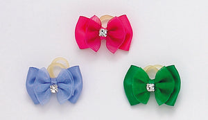 Dog Hair Bows-Satin Rhinestone Cotillion - A Pet's World