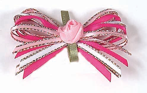 Dog Hair Bows-Tonal Pink Loops - A Pet's World