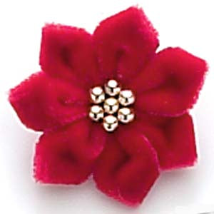 Dog Hair Flower-Poinsettia Flower - A Pet's World