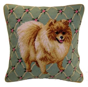 Needlepoint Pillow- Pomeranian - A Pet's World