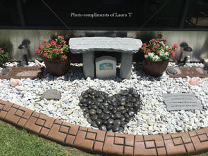 Memorial Bench photo from a Customer