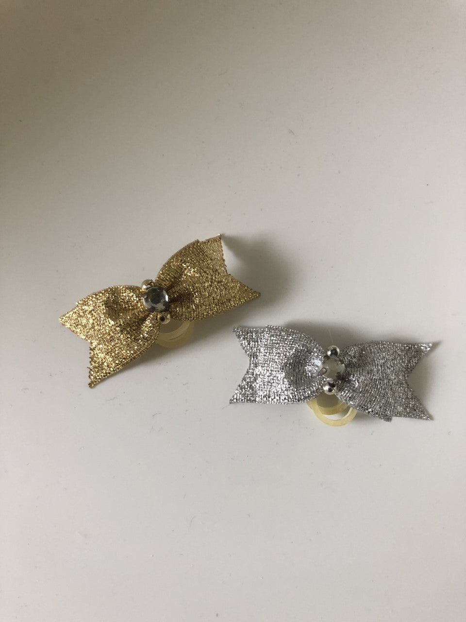Dog Hair Bows- Metallic Rhinestone