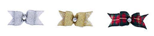 Dog Hair Bows- Metallic Rhinestone - A Pet's World