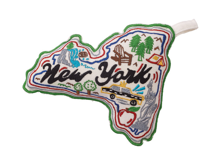 Dog Toy -New York State Canvas Rope Toy with Squeaker - A Pet's World