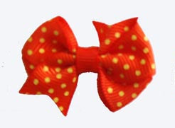 Dog Hair Bows-Just Ducky Orange + Yellow Fishtail - A Pet's World