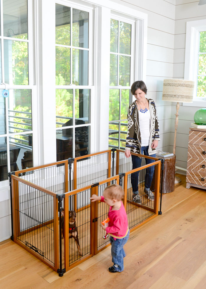 Perfect Fit Freestanding Pet Gate with Door - A Pet's World