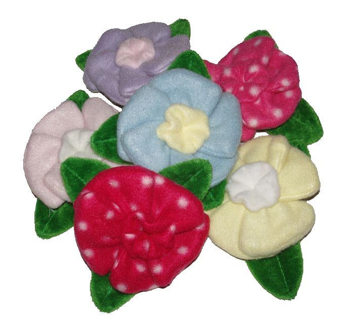 Dog Toys- Crinkle Petal Flowers Pkg of 2 - A Pet's World