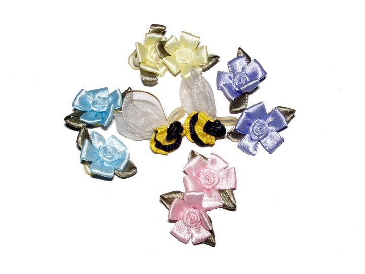 Dog Hair Flowers-Flowers and Bees 10 Piece Assortment - A Pet's World