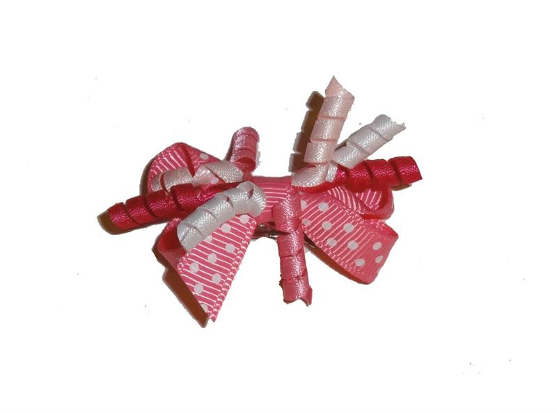 Dog Hair Accessories-Pink Polka Dot Party Bow - A Pet's World
