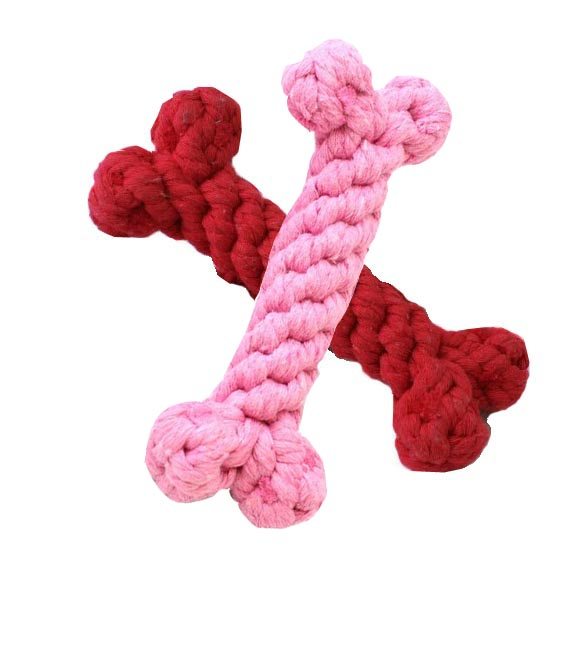 Dog Toys-Small Rope Bones - A Pet's World