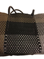 Load image into Gallery viewer, Dog Totes-Handwoven Light Weight Recycled Material-Bronze + Black Plaid - A Pet's World