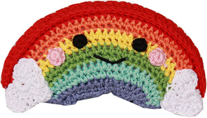 Dog Toy-Crochet Rainbow Toy with Squeaker