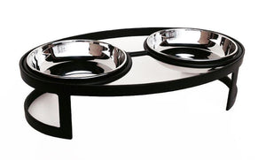 Pet Diner-Raindrop Double Diner for Tiny and Small Pets - A Pet's World