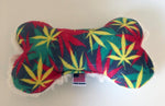 Load image into Gallery viewer, Dog Toy-Rasta Marijuana Parody Dog Bone