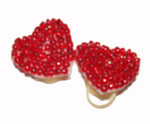 Load image into Gallery viewer, Dog Hair Bows-Red Beaded Hearts - A Pet's World