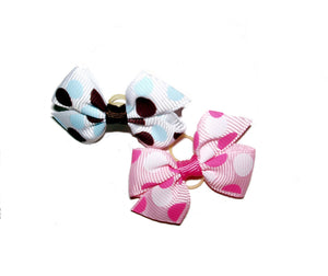 Dog Hair Bows-Retro Dots - A Pet's World