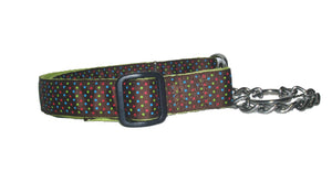 Ribbon Dog Collars-Triple Dots - A Pet's World