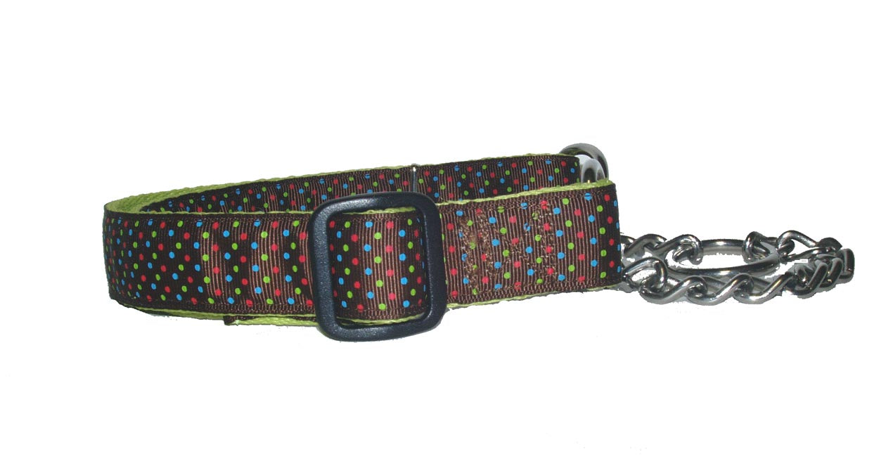 Chain Martingale Training Collar-Triple Dots - A Pet's World