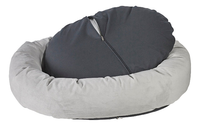 Pet Bed-Roll-O Orthopedic Big Dog Bed in Wheat Microcord. - A Pet's World