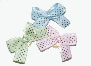 Dog Bows-Satin Dottie Bows - A Pet's World