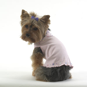 Dog T-Shirt- Dress with Sequins - A Pet's World
