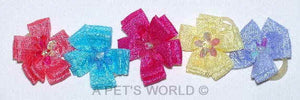Dog Hair Flowers-Sequin Petal Flowers with Elastics - A Pet's World