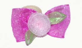 Dog Hair Bows-Sheer Organza with Rosette - A Pet's World