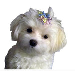 Load image into Gallery viewer, Dog Hair Accessory-Pastel Curly Ribbon Barrette - A Pet's World