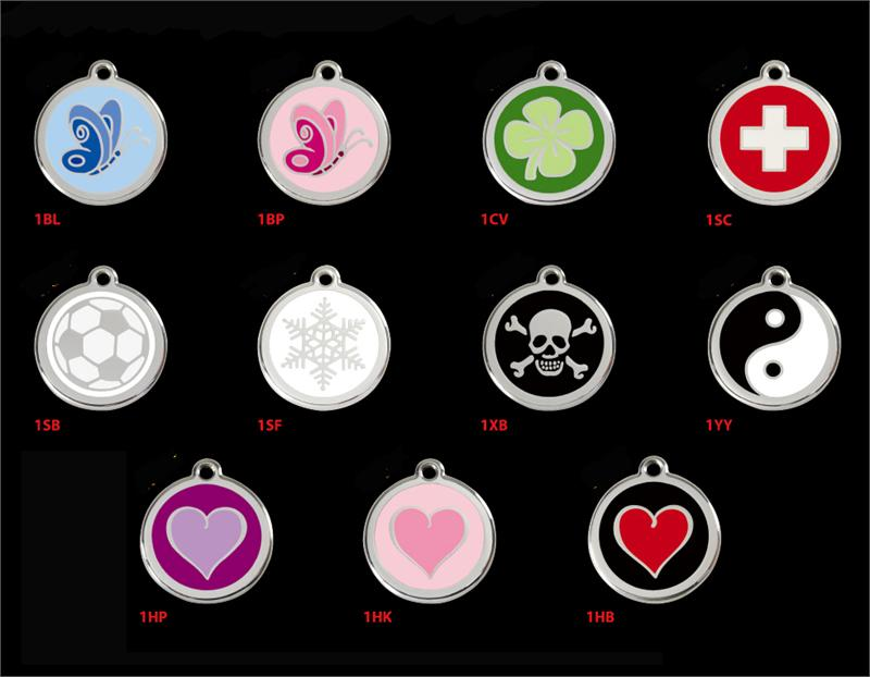 Designer Enamel Pet ID Tags - A Pet's World