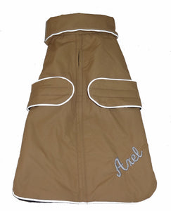 Dog Coat- Waterproof with Fleece Lining and Reflective Piping - A Pet's World