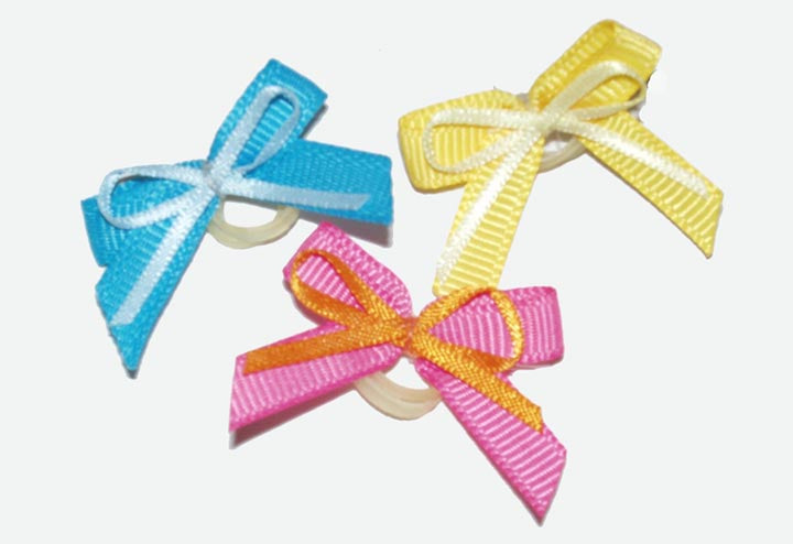Dog Hair Bows-  Thick Thin Double Bows - A Pet's World