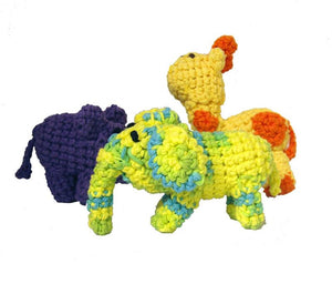 Dog Toys - Jungle Trio with Squeakers - A Pet's World