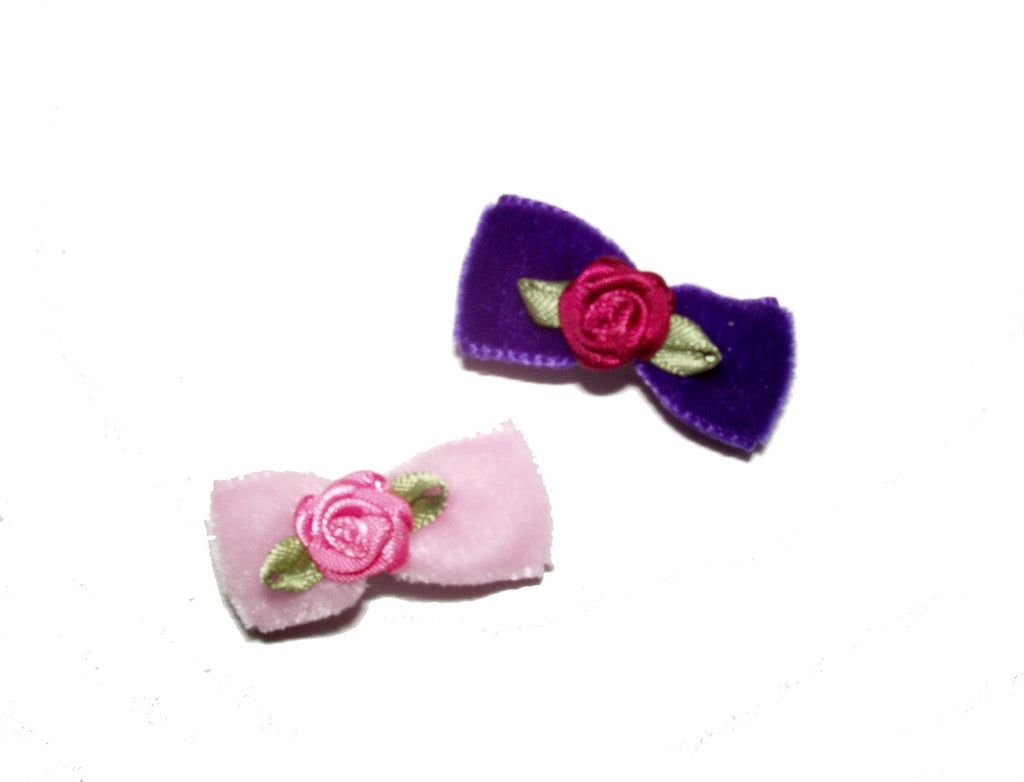 Dog Hair Bows-Velvet Rosettes - A Pet's World
