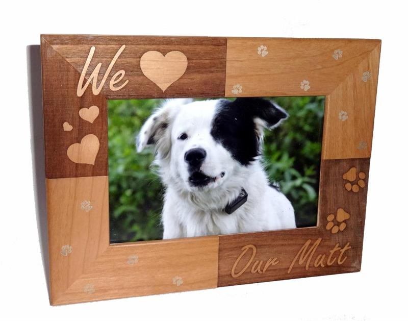 We Love our Mutt Personalized Photo Frame 4 X 6 - A Pet's World